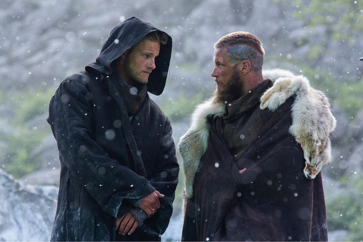 "VIKINGS (@historyvikings) on Instagram: ""Winter was already here. #Vikings"" --  Photo: Alexander Ludwig as Bjørn Ironside and Travis Fimmel as Ragnar Lothbrok 