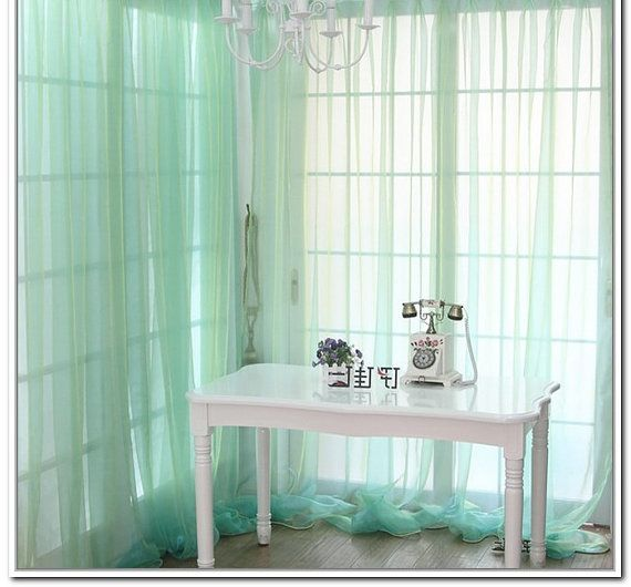 315 best images about home decor on pinterest lighthouses ombre and doors - Mint green kitchen curtains ...