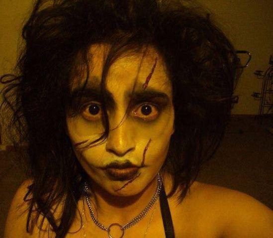 Juliana Cubillos. Maquillaje y disfraz Juliana Cubillos. Halloween 2012.