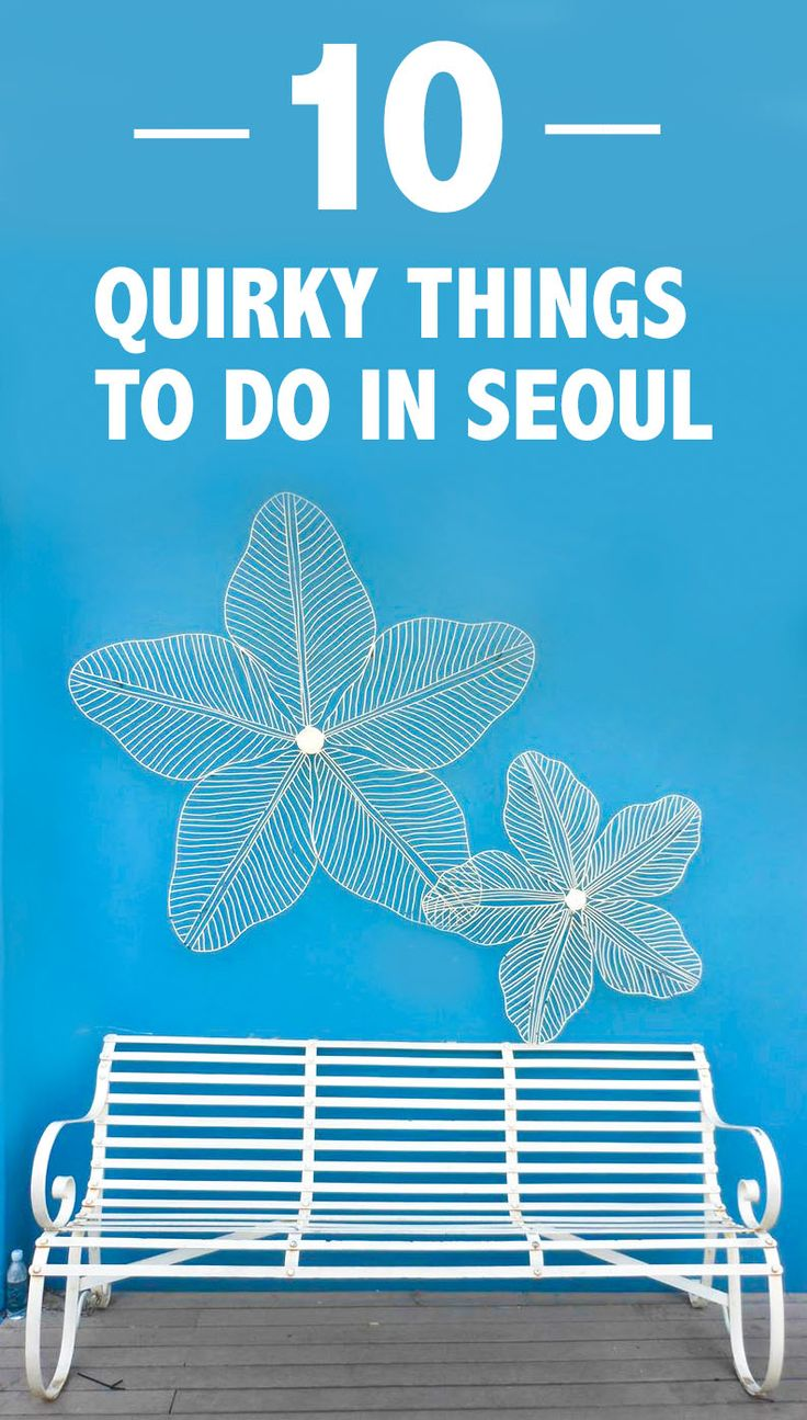 Check out these quirky things to do in Seoul, Korea.