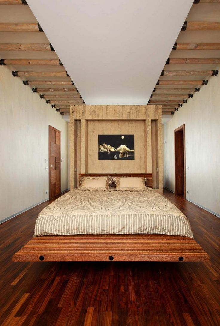 Oakland House by Roman Leonidov. beautiful clean wood and white bedroom.