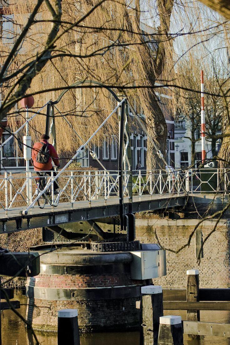 Trompbrug (fiets- en loopbrug) 1879. Trompsingel, Groningen. The Netherlands.