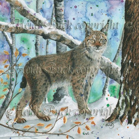 Eurasian Lynx Greetings Card