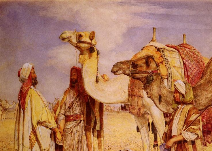 The Greeting in the Desert, Egypt by John Frederick Lewis