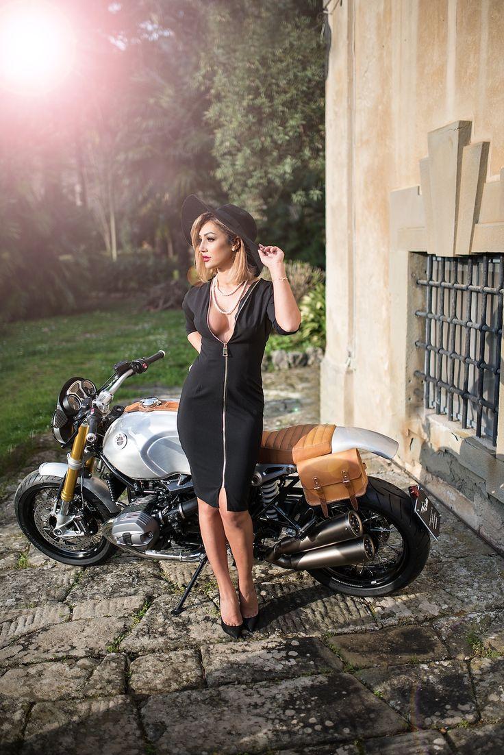 "Monika Balan and the "" Quicksilver "" R-Nine-T special by Luis Bertelli"