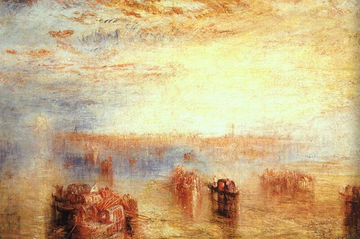 Approach to Venice, 1843 by William Turner. Romanticism. cityscape