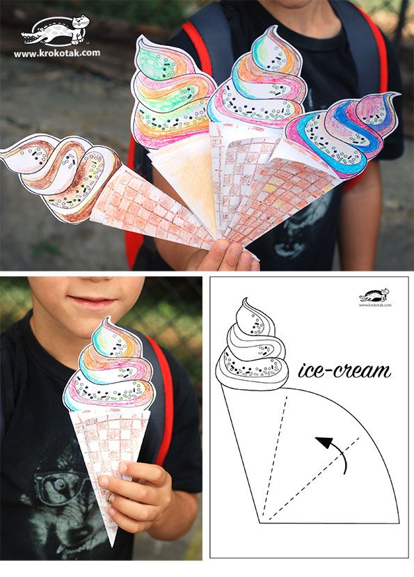 Ice cream cone free printable Cute for invite