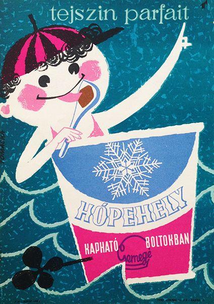 Hópehely cream parfait (Tomaska, Irén - 1960s - cca. 17 x 24 cm)