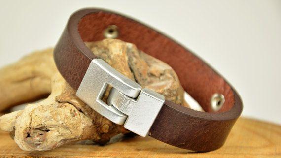 Bracelet pour homme en cuir Bracelet personnalisé par PukkaMen
