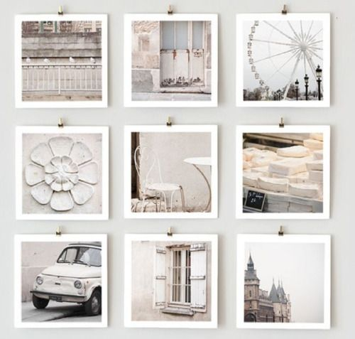 simple clips, white borders...clean photo display