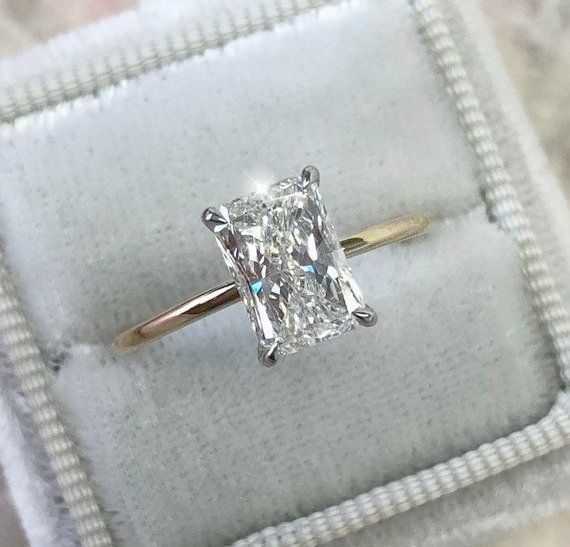 Diamond Womens Cluster Engagement Bridal Radiant Diamond Engagement Rings Stylish Engagement Rings Radiant Diamond Rings