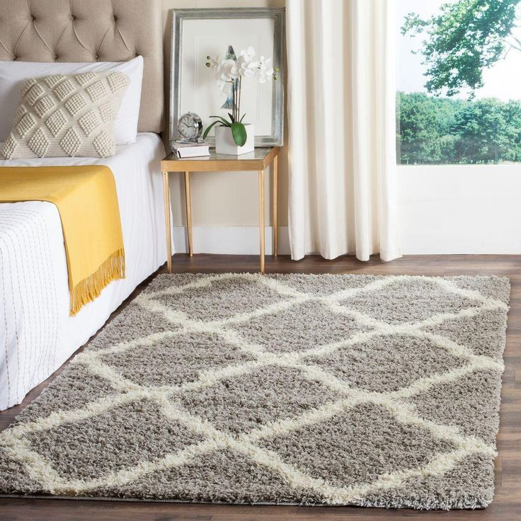 Safavieh Dallas Shag Grey/Ivory 8 ft. x 10 ft. Area Rug - SGD257G-8 - The Home Depot