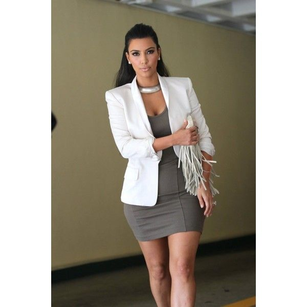 Wait! There's More! Mail Bombs: Kim Kardashian's Paris Pink American Apparel Bodysuit, Brown Ermanno Scervino Spring 2014 Skirt, and Saint Laurent Sunglasses, …