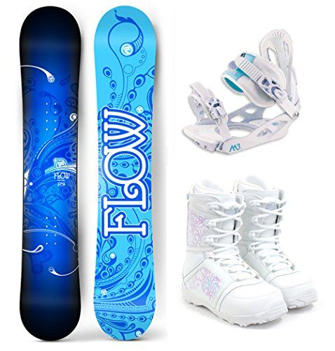 Flow 2017 Star Womens Complete Snowboard Package M3 Bindings M3 Boots  Board Size 144 Boot Size 8 ** You can find more details by visiting the image link.