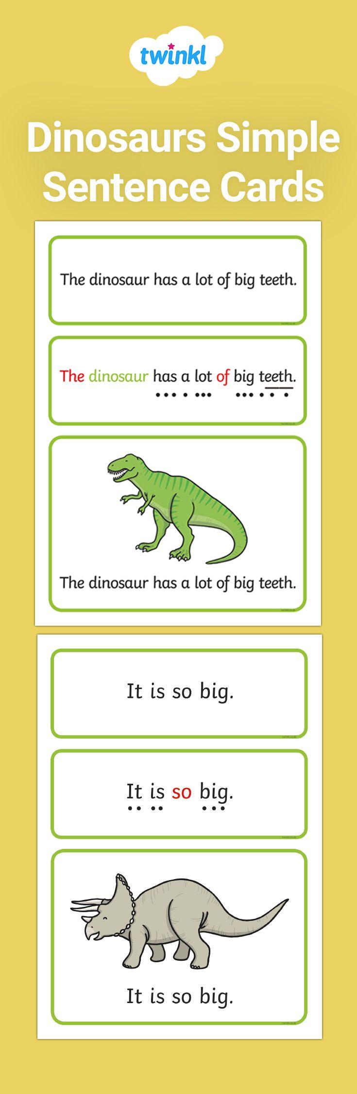 Dinosaurs Simple Sentence Cards Simple Sentences Early Reading Skills Sentences Reading scales mass worksheet ks1
