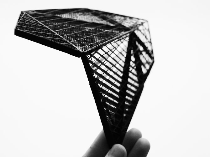 corneel cannaerts: hatching with matter, steering density, transparency (g-code + 3D printer)