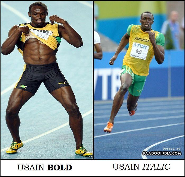 Usain : Bold And Italic