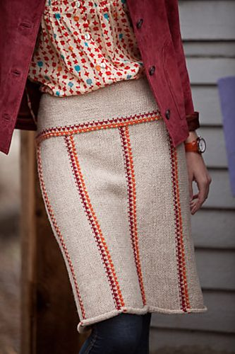 Running Stitch Knit Skirt Pattern...you know, as a rule I hate knit skirt patterns.  But I like this one...I may have to try it.