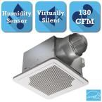 Smart Series 130 CFM Ceiling Exhaust Bath Fan with Adjustable Humidity Sensor and Speed Control