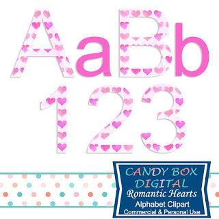 What's in the Candy Box: New Romantic Hearts Alphabet Clip Art!