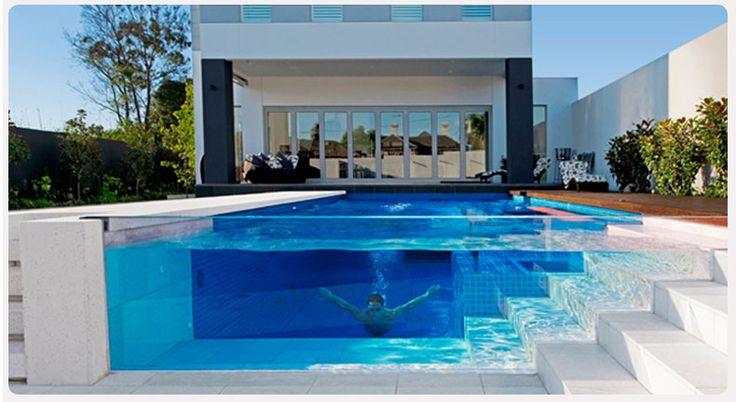 Acrilic swimming pool.