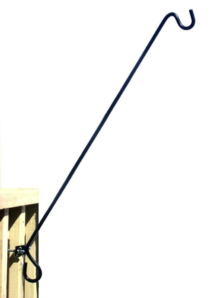 """Amazon.com : """"RailHookz 30 Inch"""" Clamp on Deck Rail or Fence Hanger : Wild Bird Feeder Accessories : Patio, Lawn & Garden"""