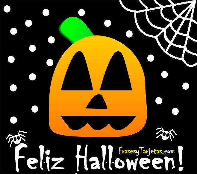 Tarjeta de Halloween de Calabaza