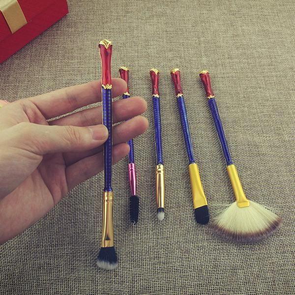 Wonder Woman makeup brush set 5pcs Kits de maquillaje