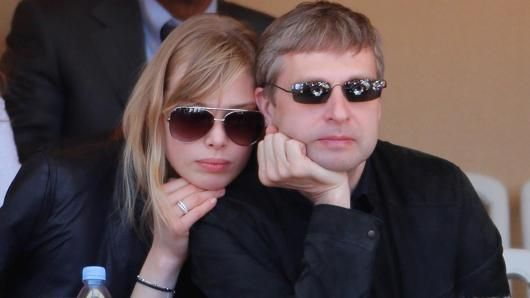Dmitri Rybolovlev with his now ex-wife Elena attend the Monte Carlo Rolex Masters on April 21, 2012 in Monte-Carlo, Monaco.