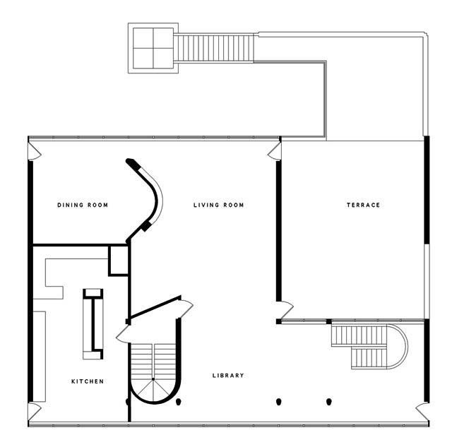le corbusier floorplan for villa stein lc pinterest villas and le corbusier. Black Bedroom Furniture Sets. Home Design Ideas