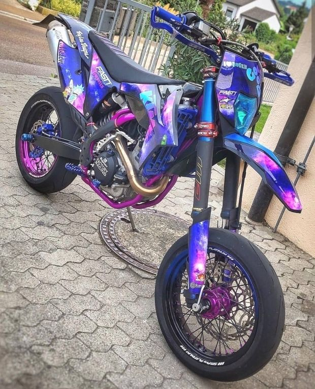 Galaxy Exc 500 In 2020 Custom Dirt Bike Motorcross Bike