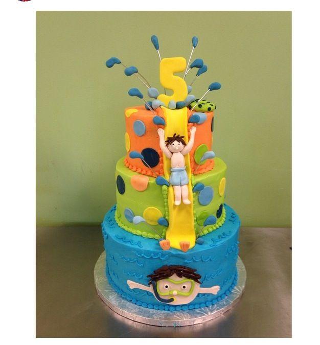 Waterslide/Pool Party Cake