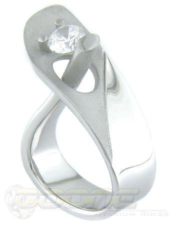 unique white gold and diamond ring
