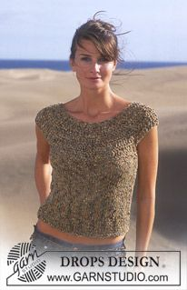 DROPS Knitted and crochet Top in Salsa (a few more rows and perfect o)