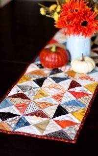 Fall Quilted Hour Glass Table Runner