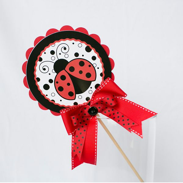 Lollipop Decoration - Ladybug