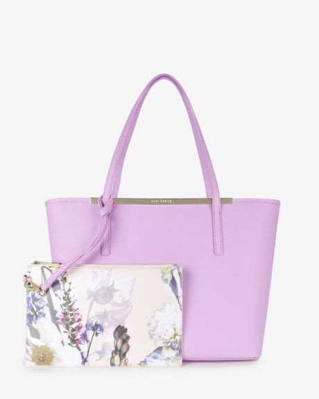 Crosshatch leather shopper bag - Pale Purple | Bags | Ted Baker UK
