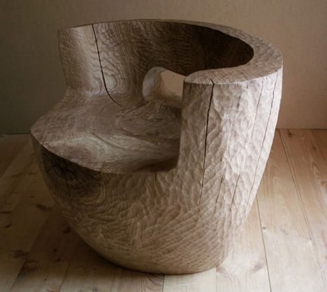 Salvaged Tree Stump Furniture By Denis Milovanov
