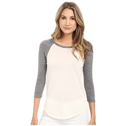 (オルタナティヴ) Alternative レディース トップス Tシャツ Eco Jersey Baseball T-Shirt 並行輸入品  新品【取り寄せ商品のため、お届けまでに2週間前後かかります。】 表示サイズ表はすべて【参考サイズ】です。ご不明点はお問合せ下さい。 カラー:Eco Ivory