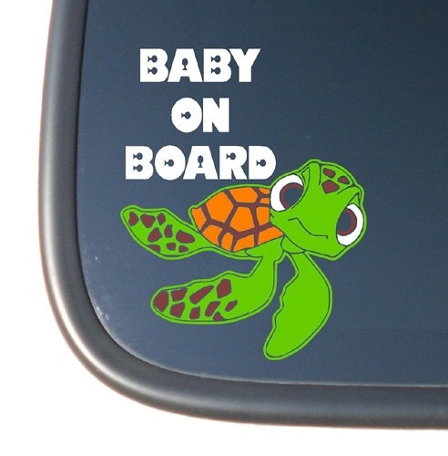 Finding Nemo Squirt Quot Baby On Board Quot Vinyl Decal Sticker