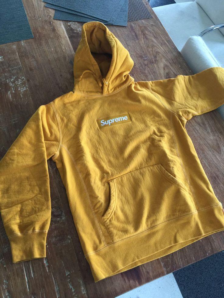 Supreme Gold Box Logo Hoodie Size M $900 - Grailed