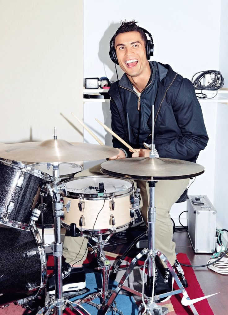 Cristiano Ronaldo on the drums #Nike #CR7Collection #CR7