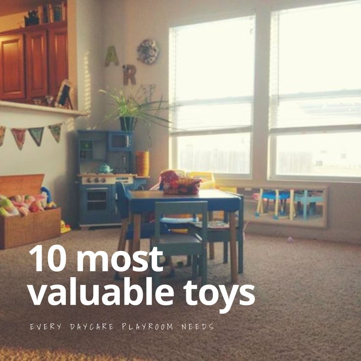 Great list of toys that are essential to every playroom and home daycare!