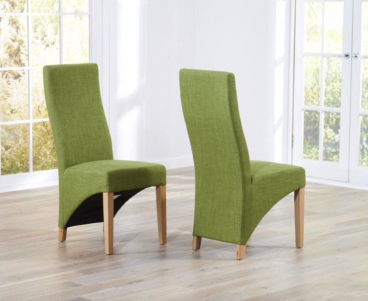 Hadfield Lime Dining Chair (Pairs)  otal with sturdy oak legs, the Hadfield lime Material Dining Chairs deliver a distinct component to each dining event.  https://www.bonsoni.com/hadfield-lime-dining-chair-pairs