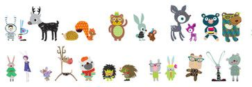 Fabric Decals - Fantasy Forest Critters contemporary kids decor