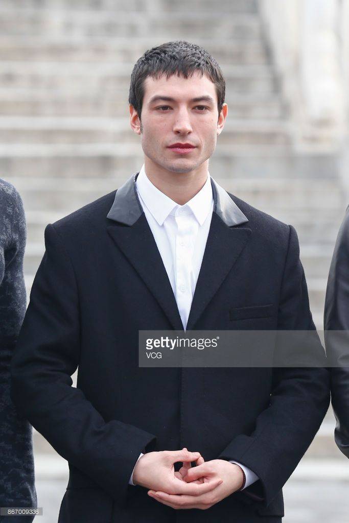 News Photo : American actor Ezra Miller visits the Temple of...