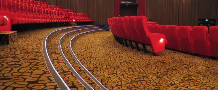 Berkeley Cinema, Botany Downs: Custom designed Axminster carpet by Irvine Flooring