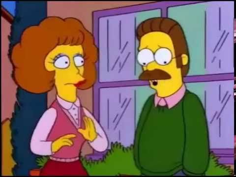 los simpson ned flanders cortinas purpura - YouTube