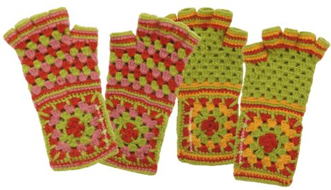Gorgeous mitts. Free tutorial with pictures and charts. (Spanish, but the pictures and charts work great for other languages!)