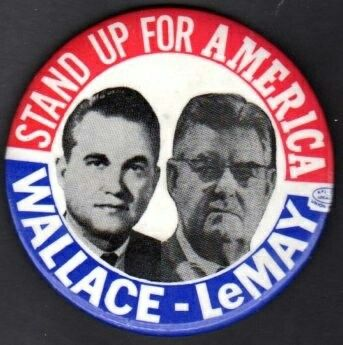 "Oct. 3, 1968, Real-life horror: George Wallace names retired Air Force Chief of Staff Curtis E. LeMay to be his running mate. His position on using nuclear weapons? ""It's just another weapon in the arsenal... I think there are many times when it would be most efficient to use nuclear weapons. ... I don't believe the world would end if we exploded a nuclear weapon."""